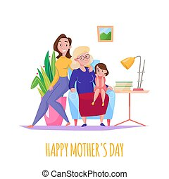 Mother Day Flat Composition