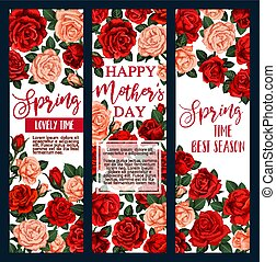 Mother Day flower greeting card for Spring Holiday