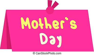 Mother Day greeting card icon isolated