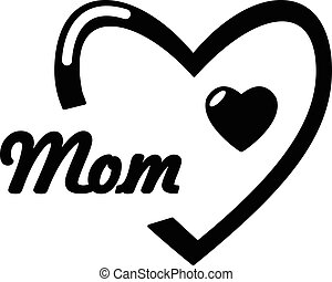 Mother day icon, simple style