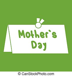 Mother Day postcard icon green