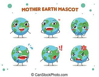 mother earth mascot. Vector Illustration