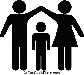 Mother Father Child Family Security - A mother and father...