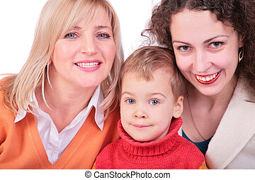 mother, grandmother, daughter
