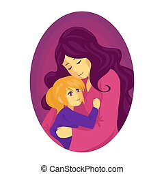 mother hugs a child