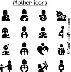 Mother icon set vector illustration graphic design