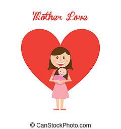 mother love design over white background vector illustration