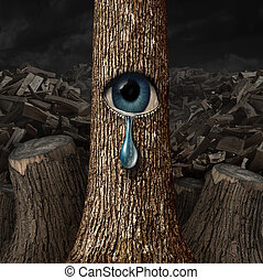 Mother Nature Crying - Mother nature crying concept as a ...