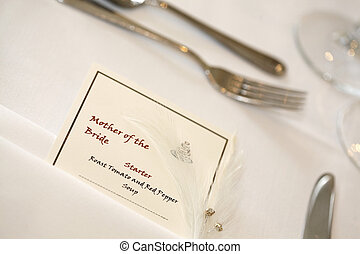Mother of the bride place setting