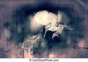 Mother Pomatorhinus ruficollis feed