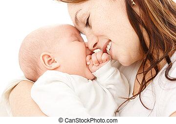 Mother smile to her child