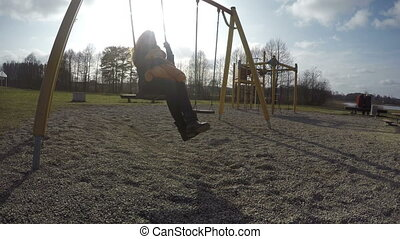mother swing with baby
