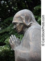 Mother Teresa monument in Skopje, Macedonia