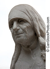 Mother Teresa monument in Skopje on May 16, 2013. Mother ...