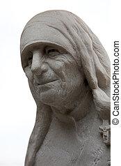Mother Teresa monument in Skopje on May 16, 2013. Mother Teresa monument Humanitarian Worker and Nobel Prize Winner in Skopje, Macedonia.