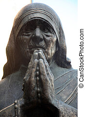 Mother Teresa monument in Skopje