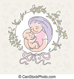 mother with baby. Happy Mothers Day.