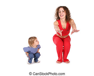 mother with baby training