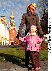 mother with child in Kremlin