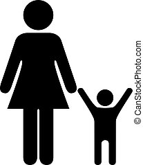 Mother with child vector icon