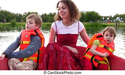 mother with children on boat 2