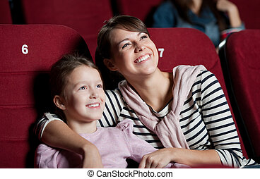 Mother with daughter in the movie