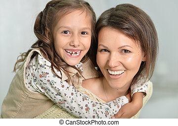 mother with daughter portrait