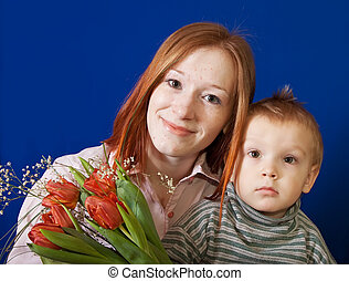 mother with her son