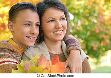 mother with son portrait