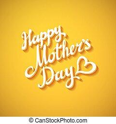 mother's, 幸せ, グリーティングカード, 日