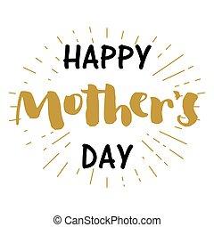 mother's, 挨拶, rays., 日, カード, 幸せ