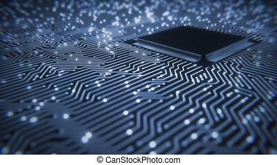 Motherboard Circuit - Seamlessly looping video of circuit...