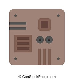 Motherboard, computer, circuit, board icon vector image. Can also be used for computer and hardware. Suitable for use on web apps, mobile apps and print media.