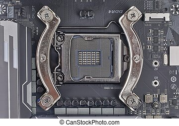 Motherboard detail of a computer