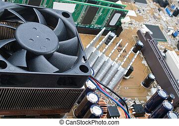 Motherboard - Macro photo of computer motherboard detail