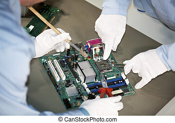 motherboard repairs - repairs and cleaning on a motherboard...