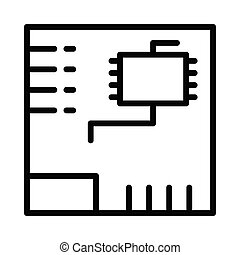 Motherboard thin line icon