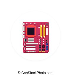 motherboard vector icon, eps 10 file, easy to edit