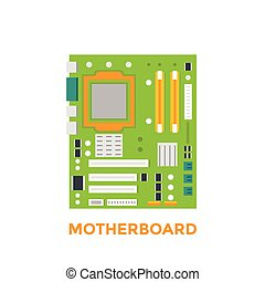 motherboard vector illustration, eps 10 file, easy to edit