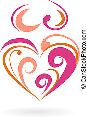 Motherhood icon - 4 - Abstract outline of a pregnant woman