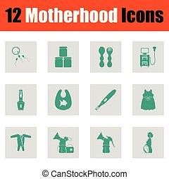 Motherhood icon set