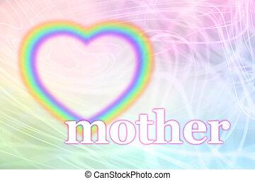 Mothering Sunday Rainbow Heart