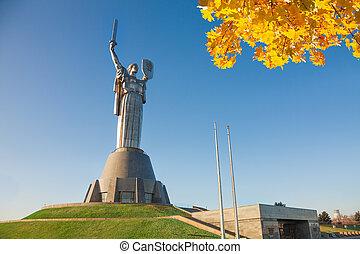 motherland, ウクライナ, kiev, 記念碑, 母