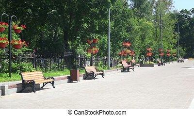 motherland, russe, défenseurs, jour, ensoleillé, fédération, moscou, commémoratif
