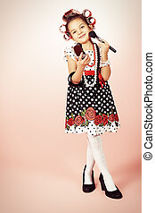 mothers daughter - Portrait of a cute little pin-up girl ...