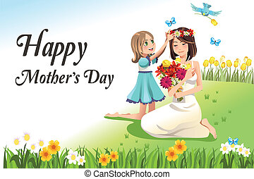 Mothers day - A vector illustration of happy mothers day...
