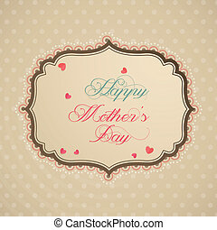 Mother's Day - abstract happy mother's day label on special ...