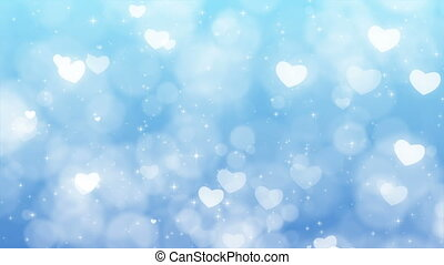 Mothers Day Background with Particles, Sparkles and Hearts.