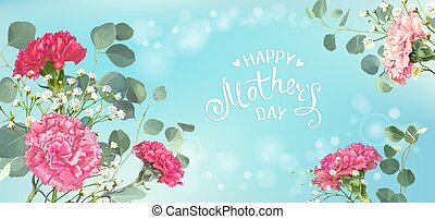 Mothers Day banner - Inscription Happy Mothers Day with ...