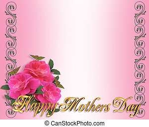 Mothers Day border pink roses